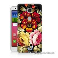 Teknomeg Huawei Gr5 Kılıf Kapak Çiçekler Baskılı Silikon