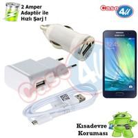 Case 4U Samsung Galaxy A3 3İn1 Ev Ve Araç Şarj Seti