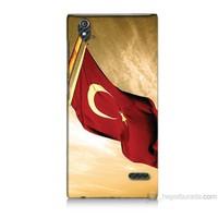 Teknomeg Turkcell T50 Türk Bayrağı Baskılı Silikon Kılıf