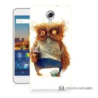 Teknomeg General Mobile 4G Android One Kapak Kılıf Miskin Baykuş Baskılı Silikon