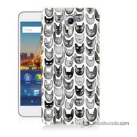 Teknomeg General Mobile 4G Android One Kapak Kılıf Kediler Baskılı Silikon
