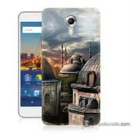 Teknomeg General Mobile 4G Android One Kapak Kılıf Cami Baskılı Silikon
