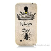Teknomeg Samsung Galaxy S4 Mini Queen Bee Baskılı Silikon Kılıf