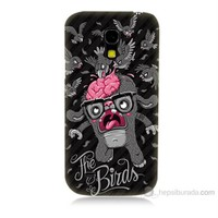 Teknomeg Samsung Galaxy S4 Mini The Birds Baskılı Silikon Kılıf