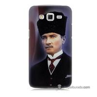 Teknomeg Samsung Galaxy Grand 2 Kılıf Kapak Mustafa Kemal Atatürk Baskılı Silikon