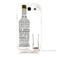 Teknomeg Samsung Galaxy S3 Rakı Şişesi Baskılı Silikon Kılıf