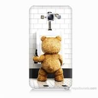Teknomeg Samsung Galaxy E5 Tedy Bear Baskılı Silikon Kılıf
