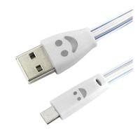 Sfm Işıklı Micro Usb Şarj Kablosu Beyaz