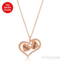 Divas Love İki İsimli Kalp Kolye