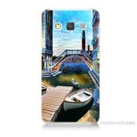 Teknomeg Samsung Galaxy A7 Kapak Kılıf Tekneler Tablo Baskılı Silikon