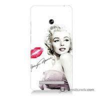 Teknomeg Asus Zenfone 6 Kapak Kılıf Marilyn Monroe Baskılı Silikon