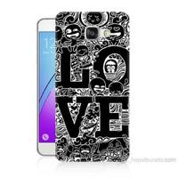 Teknomeg Samsung Galaxy A3 2016 Kapak Kılıf Love Baskılı Silikon