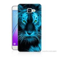 Teknomeg Samsung Galaxy A3 2016 Kapak Kılıf Mavi Kaplan Baskılı Silikon