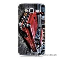 Teknomeg Samsung Galaxy Grand 2 Kılıf Kapak Klasik Araba Baskılı Silikon