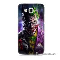 Teknomeg Samsung Galaxy Grand 2 Kılıf Kapak Batman Vs Joker Baskılı Silikon
