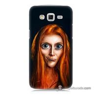 Teknomeg Samsung Galaxy Grand 2 Kılıf Kapak Zombie Kız Baskılı Silikon