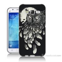 Teknomeg Samsung Galaxy J5 Kapak Kılıf Gece Kuşu Baskılı Silikon