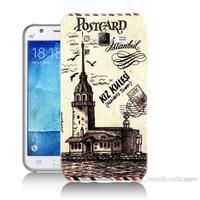 Teknomeg Samsung Galaxy J5 Kapak Kılıf Kız Kulesi Baskılı Silikon