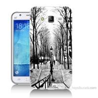 Teknomeg Samsung Galaxy J5 Kapak Kılıf Siyah Beyaz Baskılı Silikon