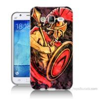 Teknomeg Samsung Galaxy J5 Kapak Kılıf Gladyatör Baskılı Silikon