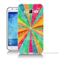 Teknomeg Samsung Galaxy J5 Kapak Kılıf Renk Efekti Baskılı Silikon