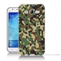Teknomeg Samsung Galaxy J5 Kapak Kılıf Askeri Kamuflaj Baskılı Silikon