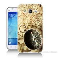 Teknomeg Samsung Galaxy J5 Kapak Kılıf Pusula Baskılı Silikon