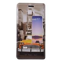 Teleplus Huawei Ascend P7 Pencereli Desenli Kılıf Taksi
