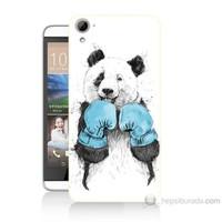 Teknomeg Htc Desire 826 Boksör Panda Baskılı Silikon Kılıf