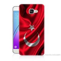 Teknomeg Samsung Galaxy A5 2016 Kapak Kılıf Türkiye Bayrağı Baskılı Silikon