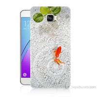 Teknomeg Samsung Galaxy A5 2016 Kapak Kılıf Kırmızı Balık Baskılı Silikon