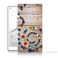 Teknomeg Sony Xperia Z5 Premium Düğmeler Baskılı Silikon Kılıf