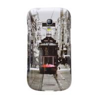 Teleplus Samsung Galaxy S3 Mini Desenli Silikon Kılıf Taksim