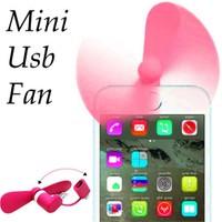 Coverzone Mini Usb Fan Telefon Tablet 2İn1 Usb İos Android Pembe