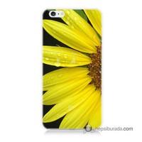 Teknomeg İphone 6S Kapak Kılıf Sarı Çiçek Baskılı Silikon