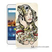 Teknomeg General Mobile 4G Android One Kapak Kılıf Müzik Aşkı Baskılı Silikon