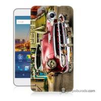 Teknomeg General Mobile 4G Android One Kapak Kılıf Klasik Araba Baskılı Silikon