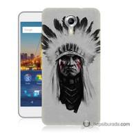 Teknomeg General Mobile 4G Android One Kılıf Kapak Geronimo Baskılı Silikon