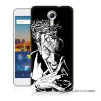 Teknomeg General Mobile 4G Android One Kapak Kılıf Gülen Joker Baskılı Silikon