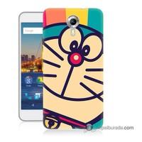 Teknomeg General Mobile 4G Android One Kapak Kılıf Hırçın Kedi Baskılı Silikon