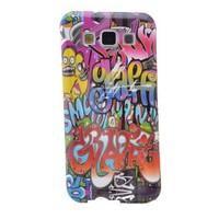 Teleplus Samsung Galaxy A3 Desenli Silikon Kılıf Karışık Yazı
