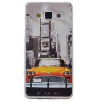Teleplus Samsung Galaxy E5 Desenli Silikon Kılıf Taksi