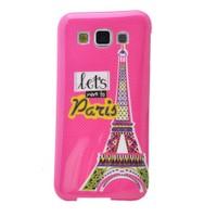 Teleplus Samsung Galaxy E5 Desenli Silikon Kılıf Pembe Paris