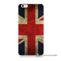 Teknomeg İphone 6 Plus Kapak Kılıf İngiltere Bayrağı Baskılı Silikon