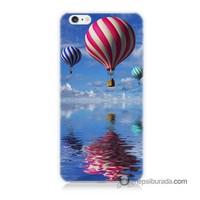 Teknomeg İphone 6 Plus Kapak Kılıf Renkli Balonlar Baskılı Silikon