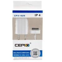 Cepix Apple iPhone 3G/3GS/4/4S Şarj + USB Kablo - CPX-625
