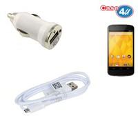 Case 4U Lg Nexus 4 Araç Şarj Cihazı+Micro Usb Kablo