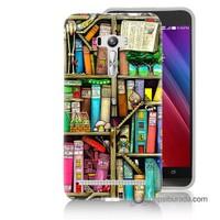 Teknomeg Asus Zenfone Selfie Kapak Kılıf Kitaplık Baskılı Silikon