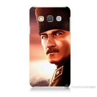 Teknomeg Samsung Galaxy A3 Kapak Kılıf Mustafa Kemal Baskılı Silikon