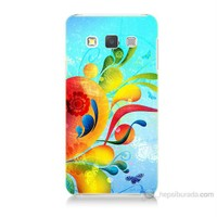 Teknomeg Samsung Galaxy A5 Kapak Kılıf Renkli Desen Baskılı Silikon